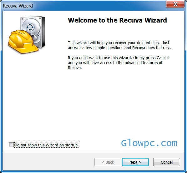 Recuva for windows 7